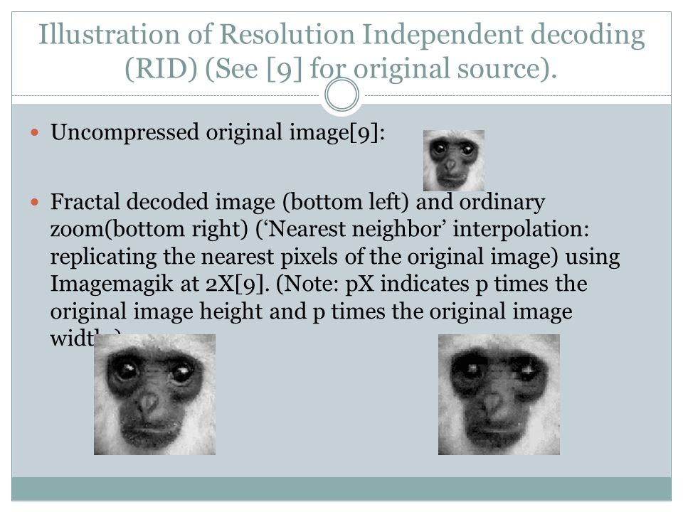 Illustration of Resolution Independent decoding (RID) (See [9] for original source).